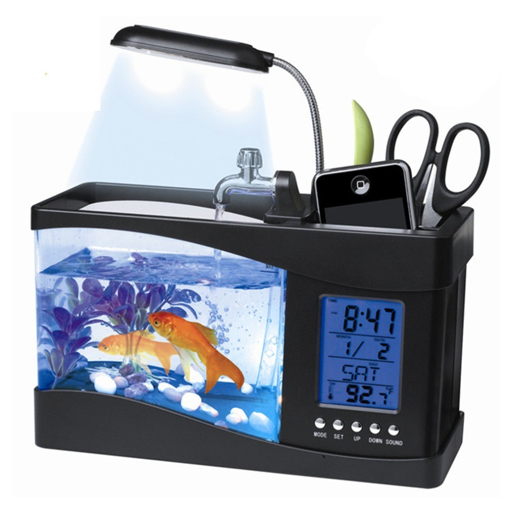 LCD timer clock for fish tank